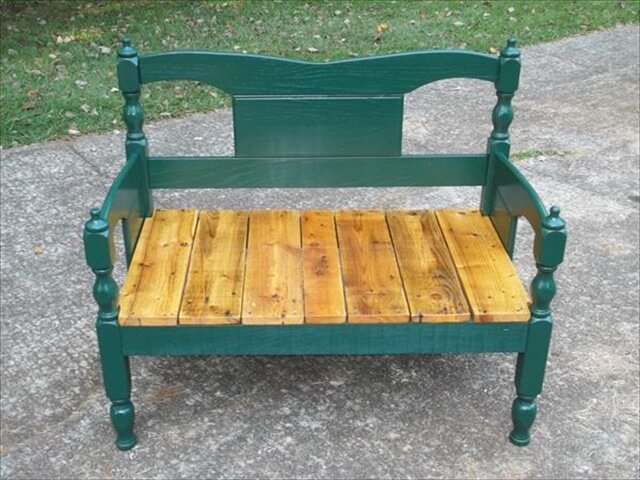 Oak and Pallet Wood Bench