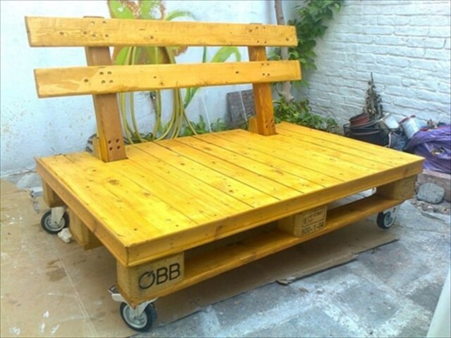 Pallet bench seat plans