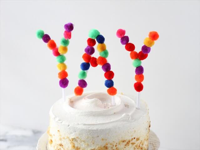 Pom-Pom Cake Topper
