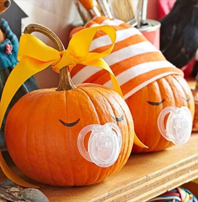 24 diy no carve pumpkin decorating ideas diy to make
