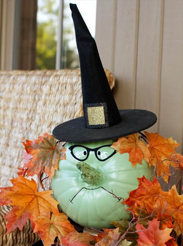 Grumpy Witch Pumpkin