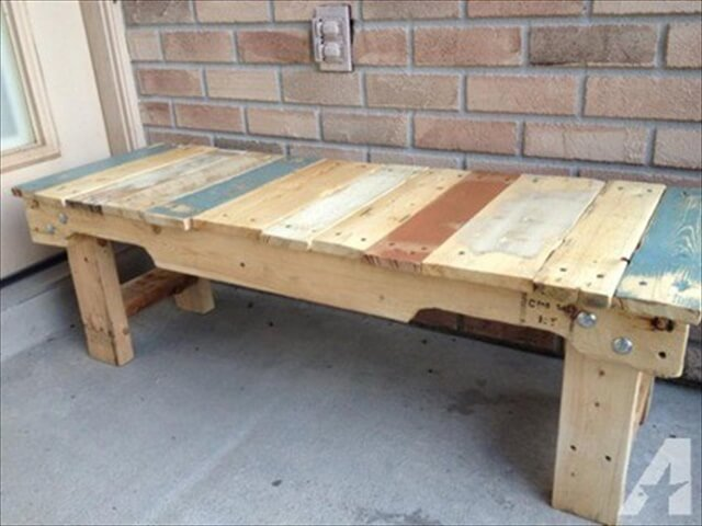 Wooden Pallet Benche