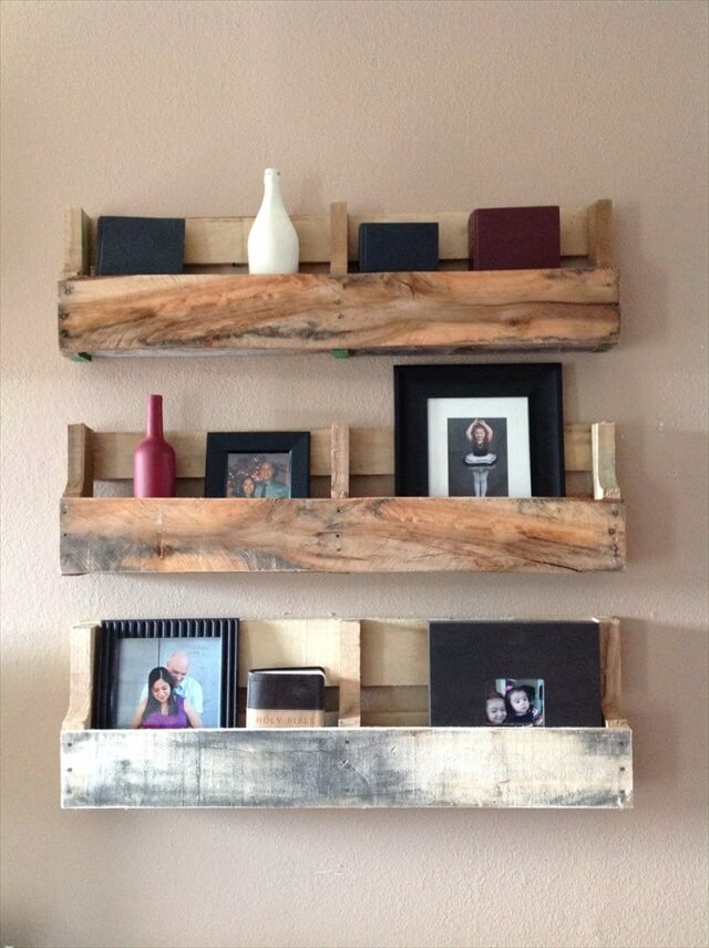 Reclaimed Pallet Shelves Set