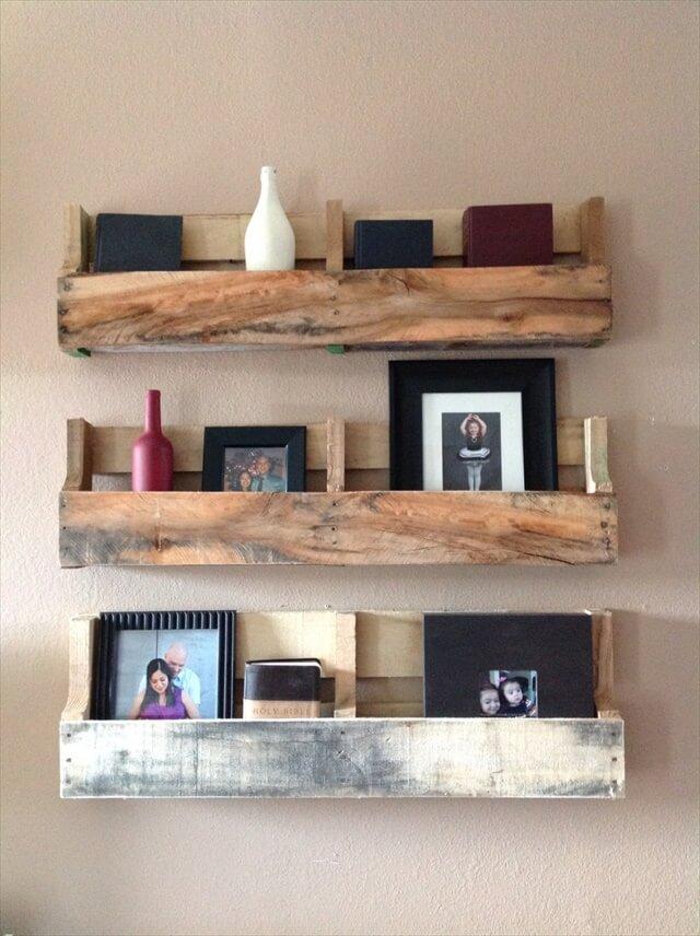 32 Diy Rustic Pallet Shelf Ideas