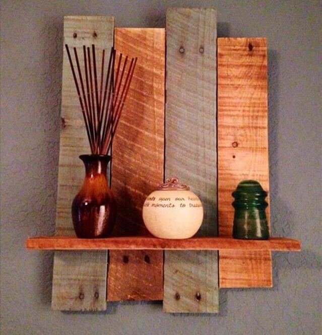 Pallet Shelves Ideas: 32 DIY Rustic Pallet Shelf Ideas
