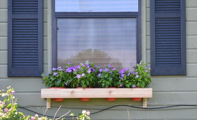 diy window flower box pots