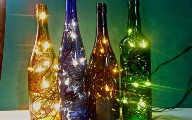 Wine Bottle Lighting Idea