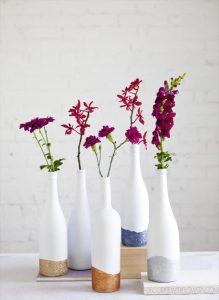 28 DIY Stunning Wine Bottle Centerpiece