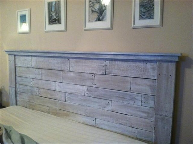 Wonderful Pallet Wood Headboard
