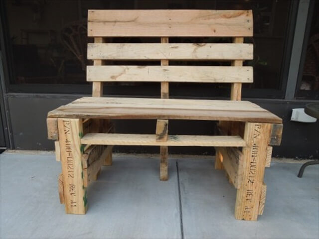 Wood Pallet Porch Bench and Cabinet