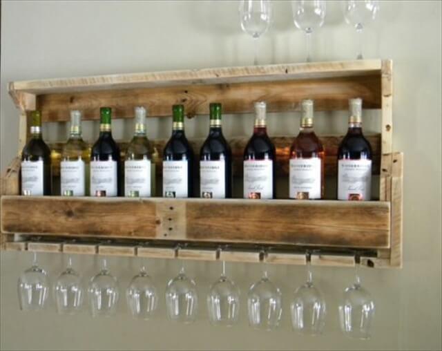 Etsy Wooden Pallet Wine Rack