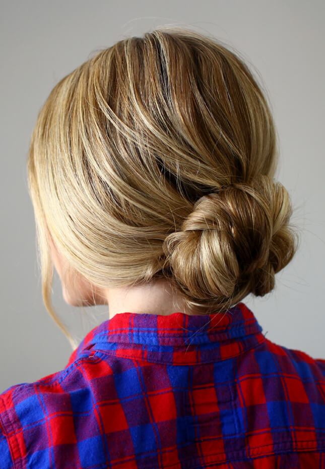 Low Braid Bun: