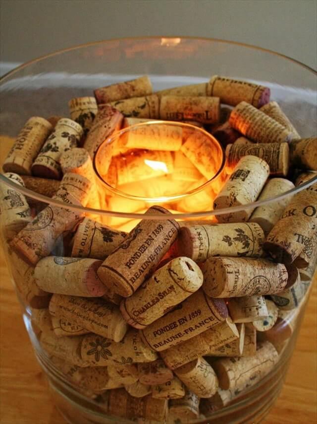 Wine Cork Candle Holder