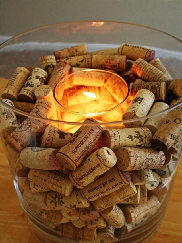 Wine Cork Candle Holder