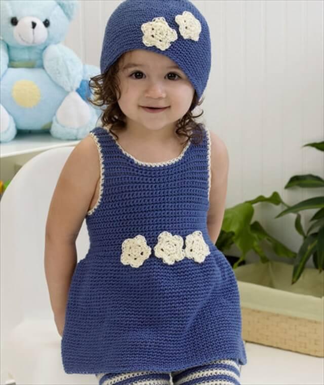 Crochet dress set free pattern