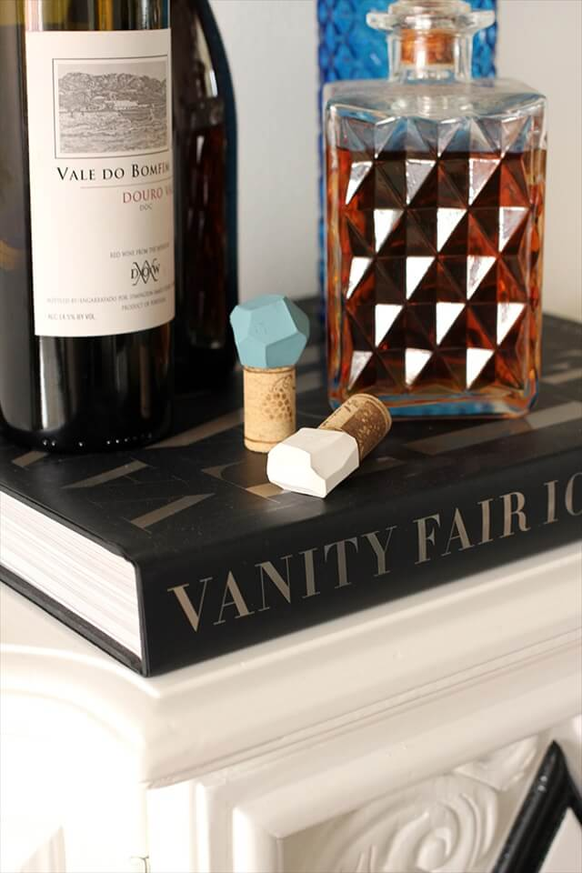 Geometric Bottle Stoppers
