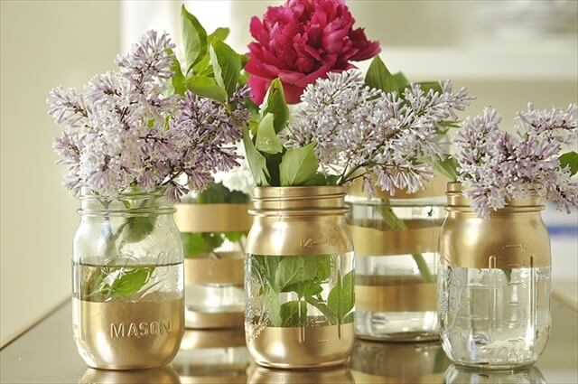 DIY-Gold-Mason-Jar-Vases
