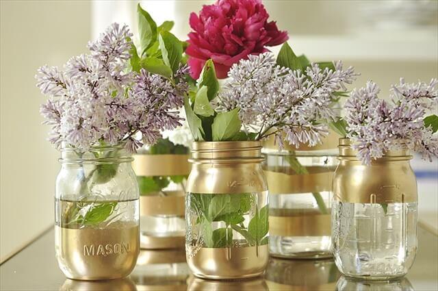 DIY-Gold-Mason-Jar-Vases
