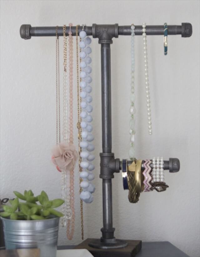 Pipes Into A Jewelry Stand