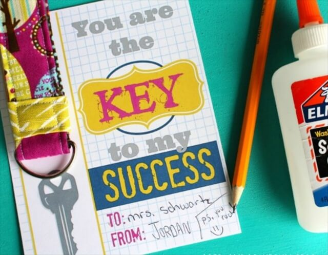 DIY Keychain Teacher Gift