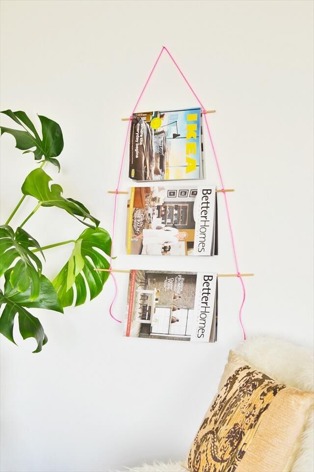 Neon Cord Magazine Holder