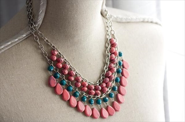 DIY Nail Polish Paint Necklace