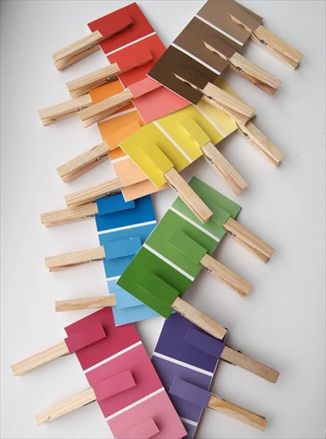 22 Super Fun Things To Make With Paint Chips Diy To Make