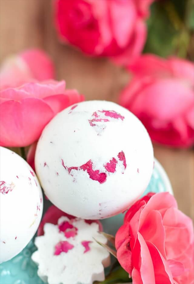 Rose + Milk Bath Bombs