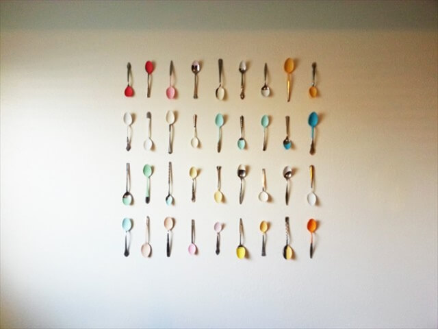 Spoons Into Wall Art