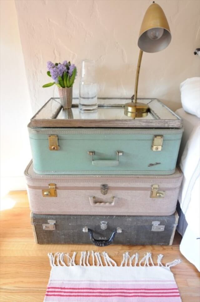 Suitcases Into A Side Table
