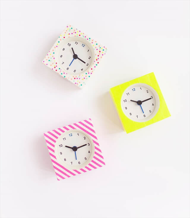 washi tape clock idea