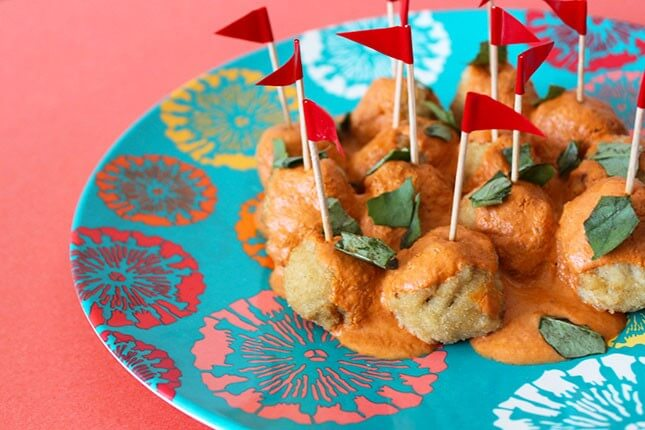 Vegetarian Red Curry Meatballs: