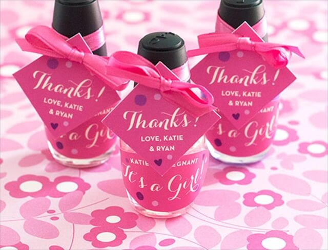 Nail Polish Gender Reveal Favors