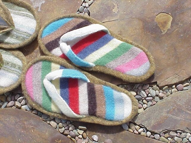 Recycled Wool Sweater slipper