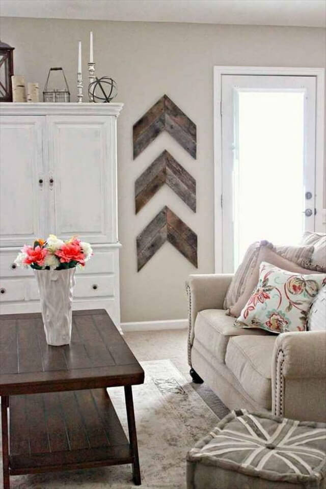 DIY Large Wooden Arrow Wall Art