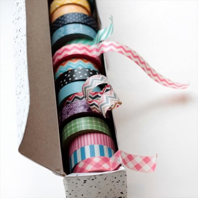 Wax Paper Box Into A Washi Tape Dispenser