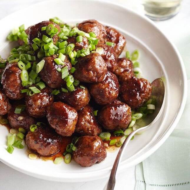 Spicy Apple-Glazed Meatballs:
