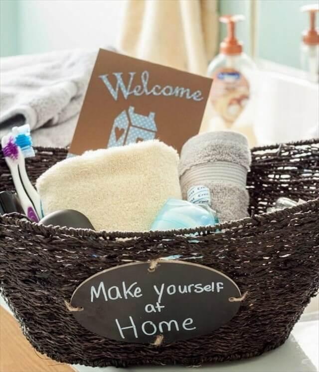 Guest Bathroom Welcome Gift Basket