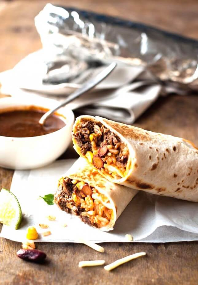 Shredded Beef Burritos: