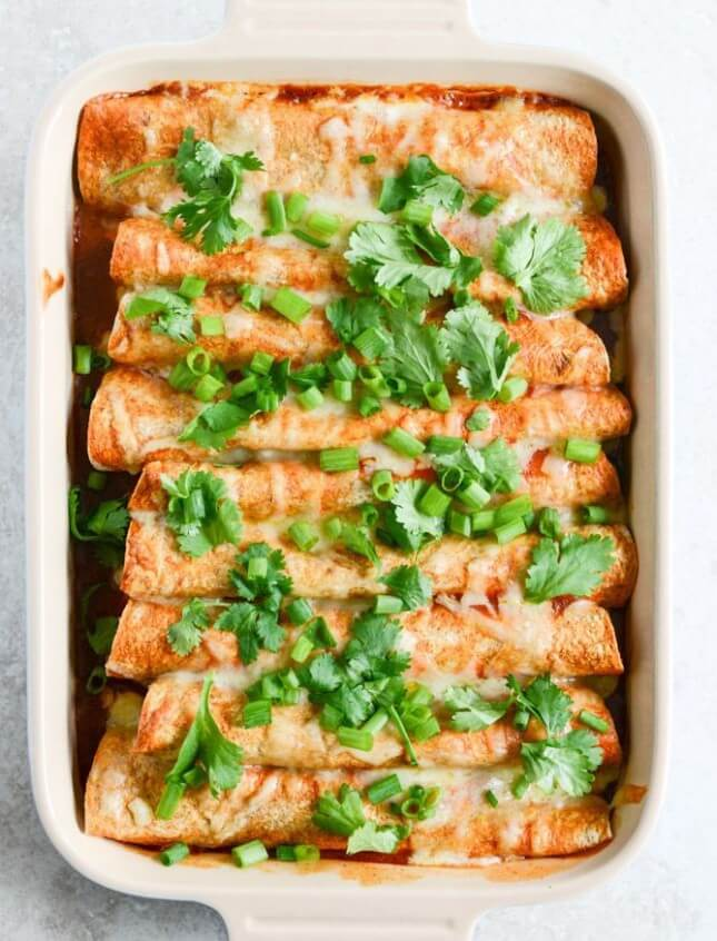 Lightened Up Beef Enchilada: