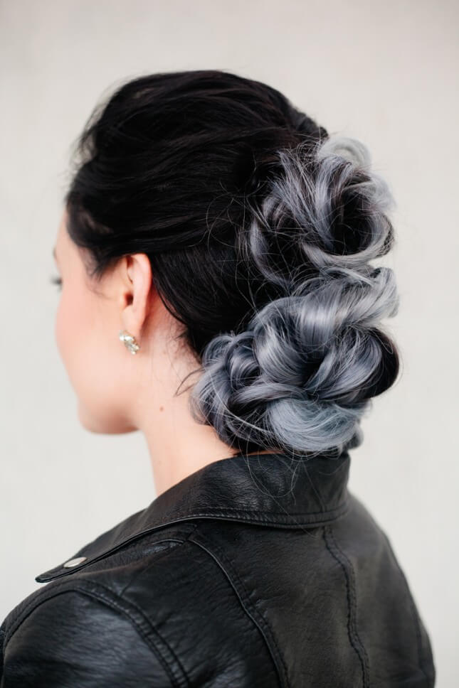Braided Hawk Bun: