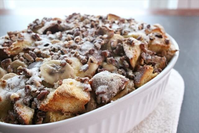 Chocolate Banana Breakfast Casserole