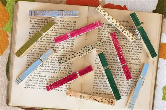 Colorful Clothes Pins With Nail Polish