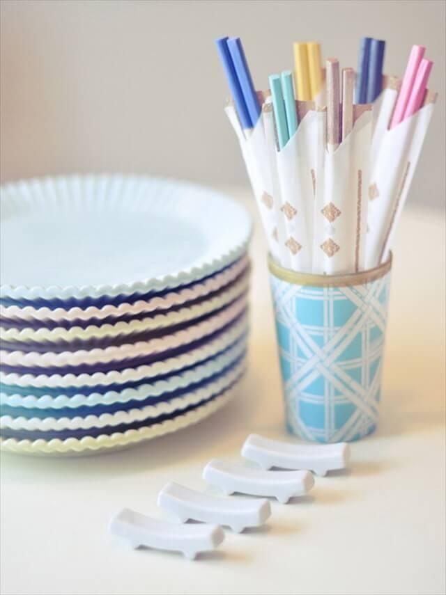 DIY Colorful Chopsticks with Nail Polish