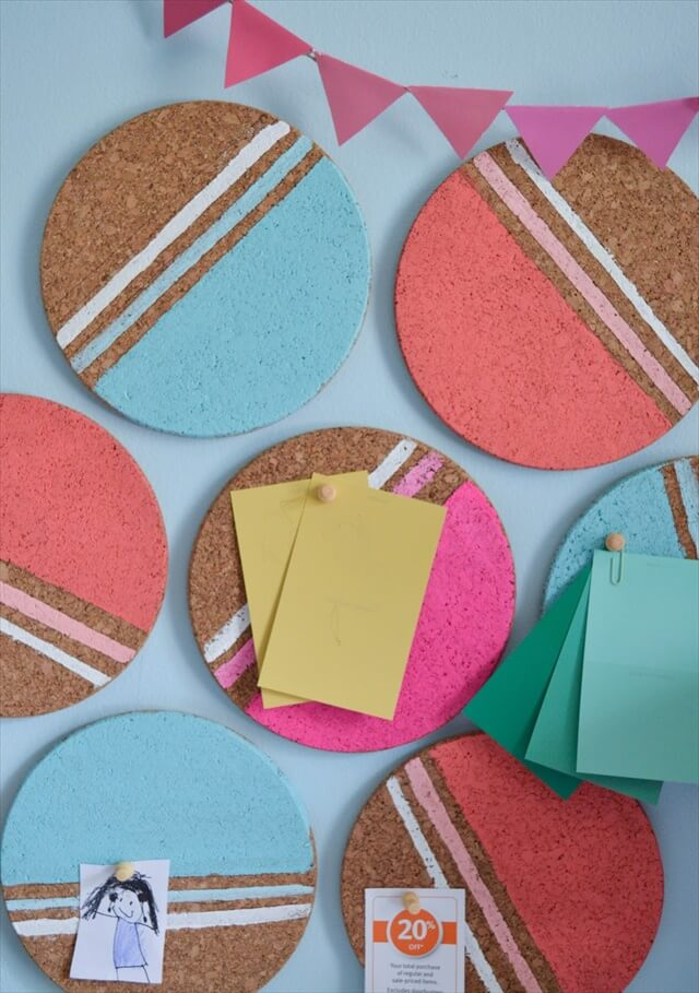 Colorful Cork Board Circles