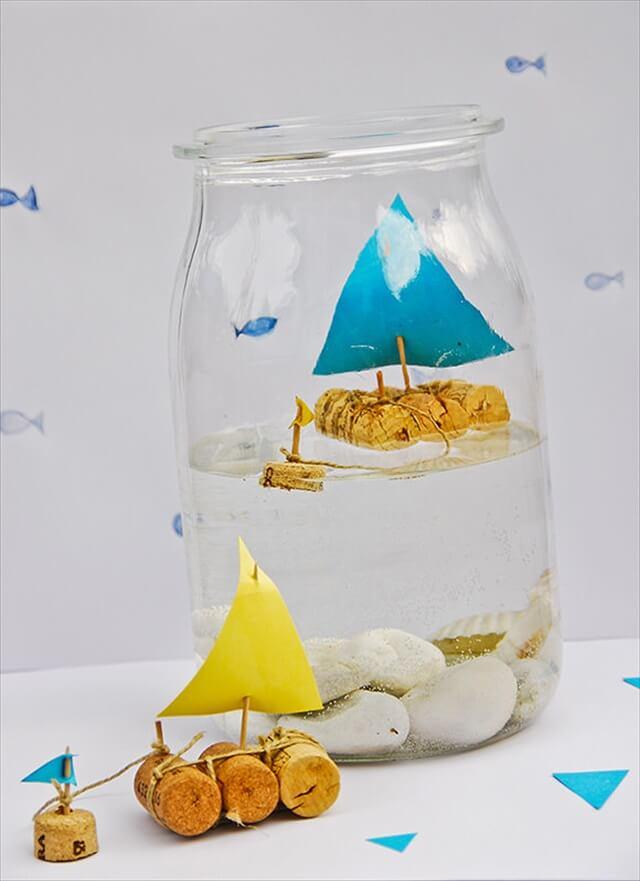 Cork Sailboat in a Jar