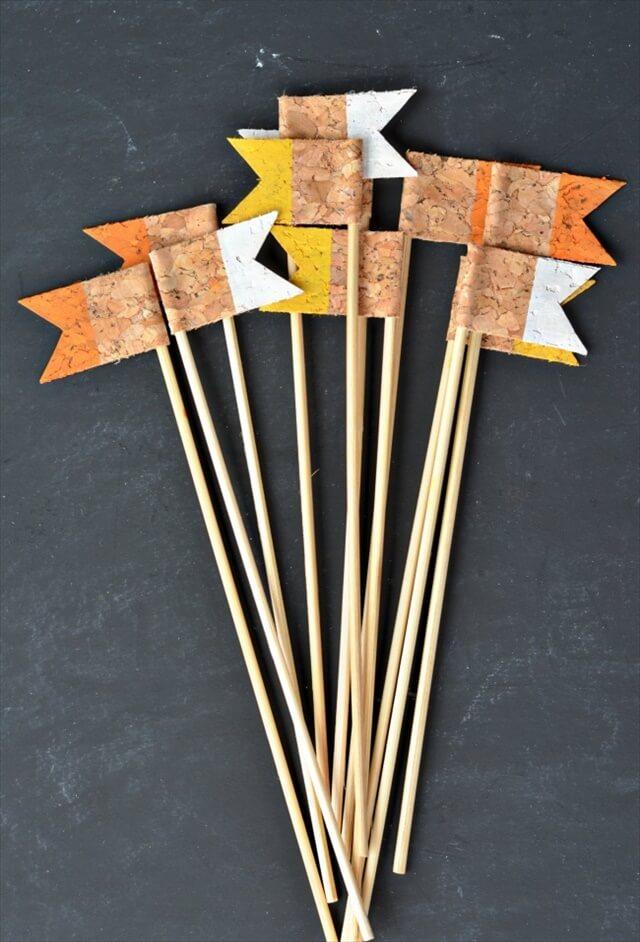 Cork Cupcake Flags