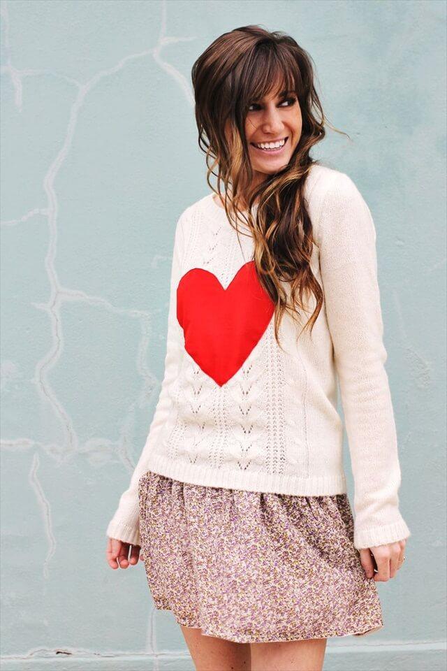 DIY Heart Sweater