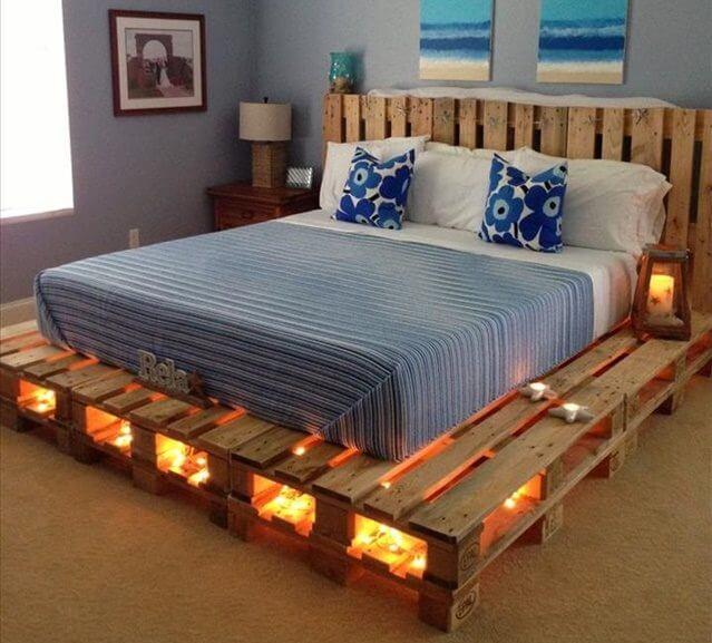 pallet light bed