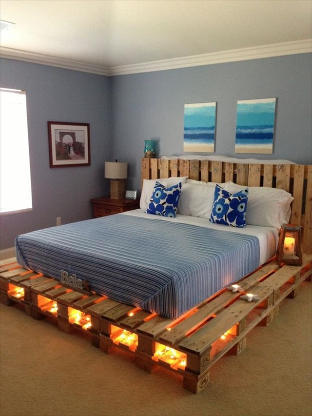 pallet light bed